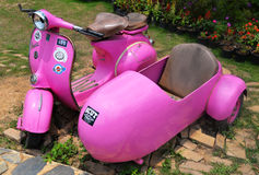 Pink Old vespa Royalty Free Stock Photo