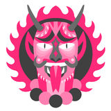 Pink Oni Demon Stock Photo