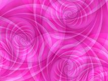 Pink Opaque Circles Swirls. A series of pink and white swirls, curls and circles in a soft flowing texture pattern Royalty Free Stock Image