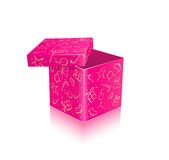 Pink Open Gift Box Royalty Free Stock Image