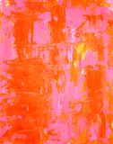 Pink and Orange Abstract Art Painting Stock Photos
