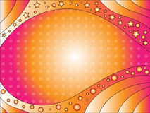 Pink and orange background with stars and dots Stock Photos