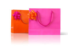 Pink an orange bags Royalty Free Stock Photos