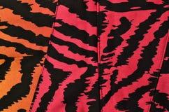 Pink, orange and black zebra pattern Stock Photography