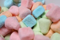 Pink Orange Blue and Green Candies Royalty Free Stock Photos