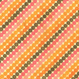 Pink Orange Brown Diagonal Dots Stock Photography