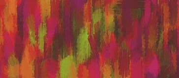 Pink orange brown and green painting texture Stock Image