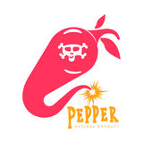 Pink and orange of chili pepper vector logo illustrations Royalty Free Stock Images