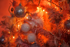 Pink and orange Christmas tree Royalty Free Stock Photography