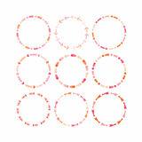 Pink and orange circle design elements for framework and banners - Set 2 Royalty Free Stock Photos