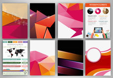 Pink and orange creative backgrounds and abstract concept vector Royalty Free Stock Image