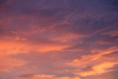 Pink orange fire sky and cloud in sunset time royalty free stock photo
