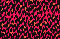 Pink and orange leopard fur pattern. Royalty Free Stock Photos