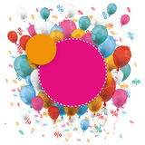 Pink Orange Paper Circles Balloons Percents Royalty Free Stock Images