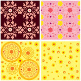 Pink and orange pattern combo Royalty Free Stock Photo