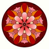 Pink orange and red mandala Royalty Free Stock Photo