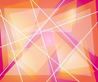 Pink Orange Triangles Lines Royalty Free Stock Photos