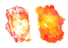 Pink and orange watercolor background Royalty Free Stock Photos