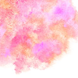 Pink and orange watercolor stains background with uneven edge Stock Photo