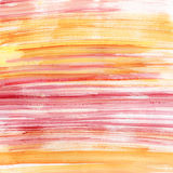 Pink and orange watercolor stripes Royalty Free Stock Photography