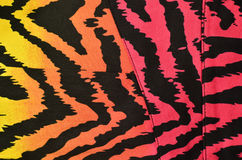 Pink, orange, yellow zebra pattern Royalty Free Stock Photo