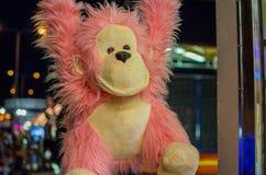 Pink orangutan - gorilla monkey (toy) Royalty Free Stock Image