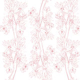 Pink orchids pattern Stock Images