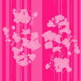 Pink orchids pattern Stock Photography