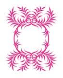 Pink organic frame Stock Photography
