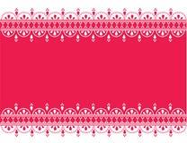 Pink oriental henna banner Stock Photos