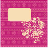 Pink oriental henna floral banner Royalty Free Stock Image