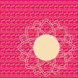 Pink oriental henna pattern card Royalty Free Stock Photo