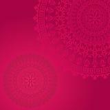 Pink oriental mandala background Stock Image