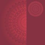 Pink oriental mandala banner Stock Image