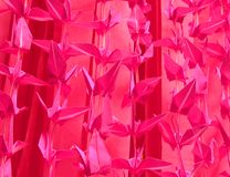 Pink origami background Royalty Free Stock Photography