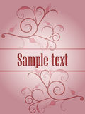 Pink ornament card stock photo