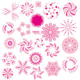 Pink ornament collection Stock Photography
