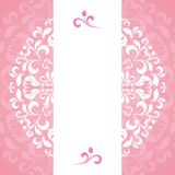 Pink ornament of petals and flowers Royalty Free Stock Images