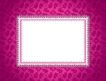 Pink Ornamental Card. An illustration of an ornate decorated card Stock Photo