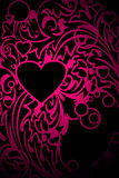 Pink ornamental heart Royalty Free Stock Photography