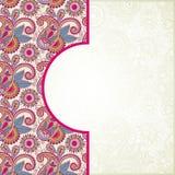 Pink ornamental pattern. Pink ornamental floral ethnic pattern, vector illustration Stock Photo