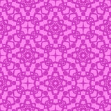 Pink Ornamental Seamless Line Pattern. Endless Texture. Oriental Geometric Ornament Royalty Free Stock Photo
