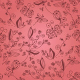 Pink ornate floral seamless pattern Royalty Free Stock Image