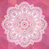 Pink ornate lacy romantic vintage background Stock Photography
