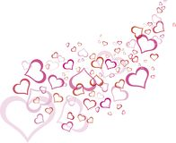 Pink outline heart pattern Royalty Free Stock Photos