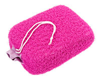 Pink oval bath sponge Stock Photography
