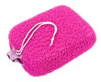 Pink oval bath sponge Stock Photography