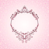 Pink oval frame Royalty Free Stock Image