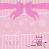 Pink owl Royalty Free Stock Photo