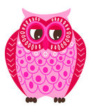 Pink owl Stock Images